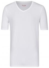 Pure T-Shirt - Slim Fit - V-Ausschnitt - weiß