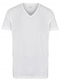 Ragman T-Shirt Doppelpack - Body Fit - V-Ausschnitt - weiß