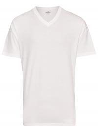 Ragman T-Shirt Doppelpack - V-Ausschnitt - weiß