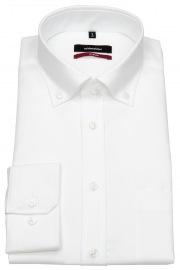 Seidensticker Hemd - Regular Fit - Button-Down Kragen - Fil-a-Fil - weiß