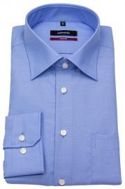 Seidensticker Hemd - Regular Fit - Fil-a-Fil - blau
