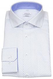 Seidensticker Hemd - Regular Fit - Haifischkragen - weiß / blau