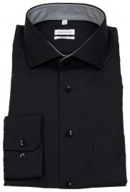 Seidensticker Hemd - Regular Fit - Kentkragen - schwarz