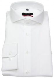 Seidensticker Hemd - Regular/Modern Fit - Haifischkragen - Fil-a-Fil - weiß