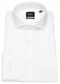 Strellson Hemd - Extra Slim Fit - Haifischkragen - weiß