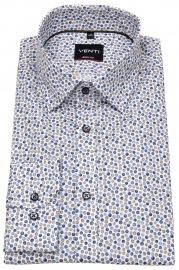 Venti Hemd - Body Fit Stretch - Under Button Down - blau / braun