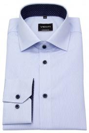 Venti Hemd - Modern Fit - feine Streifen - hellblau / weiß