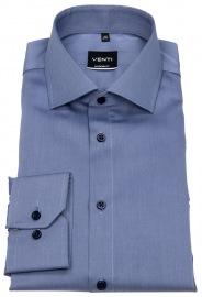 Venti Hemd - Modern Fit - Twill - blau