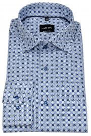 Venti Hemd - Modern Fit - Under Button Down - blau / weiß