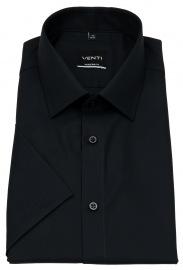 Venti Kurzarmhemd - Modern Fit - schwarz