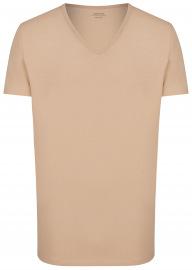 Venti T-Shirt Doppelpack - Modern Fit - V-Neck - caramel