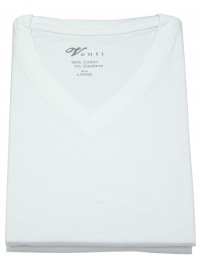 Venti T-Shirt Doppelpack - Modern Fit - V-Neck - weiß