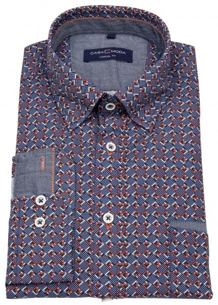 Casa Moda Hemd - Casual Fit - Under Button Down - Print - mehrfarbig - 493251300 450