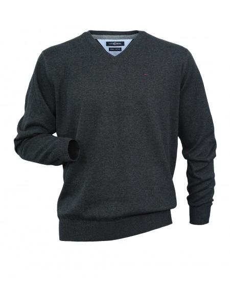 Casa Moda Pullover - V-Ausschnitt - anthrazit - 004130 74
