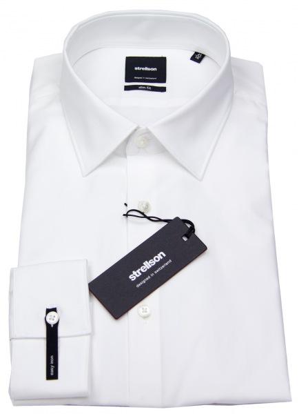 Strellson Slim Fit - Kentkragen - weiß - ohne OVP - 30001558-10000206 10