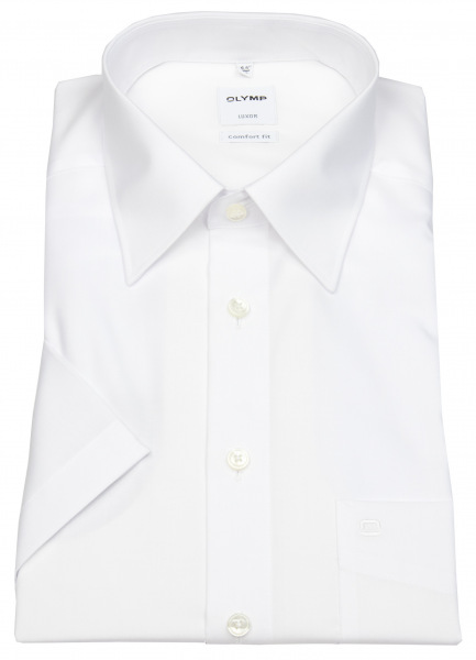 OLYMP Kurzarmhemd - Luxor Comfort Fit - weiß - 0250 12 00