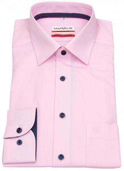 Marvelis Hemd - Modern Fit - Patch - Kontrastknöpfe - rosé - 7226 74 32