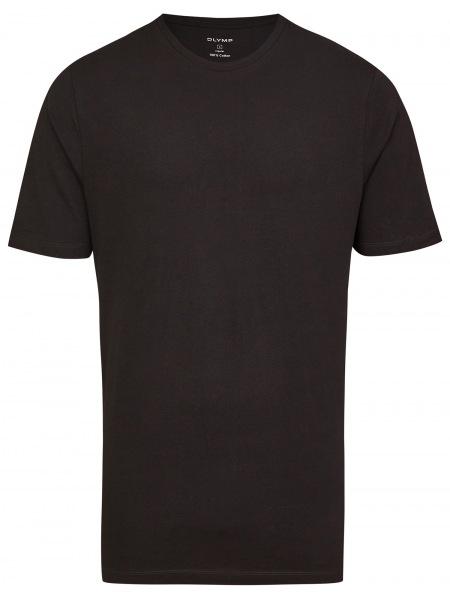 OLYMP T-Shirt Doppelpack - Rundhals - schwarz - 0700 12 68
