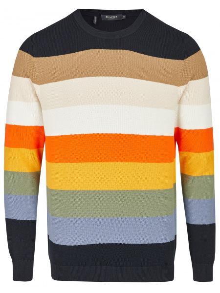 MAERZ Muenchen Pullover - Regular Fit - Rundhals - Bio-Baumwolle - mehrfarbig - 444801 399