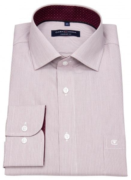 Casa Moda Hemd - Comfort Fit - Streifen - rot / weiß - 393159500 402