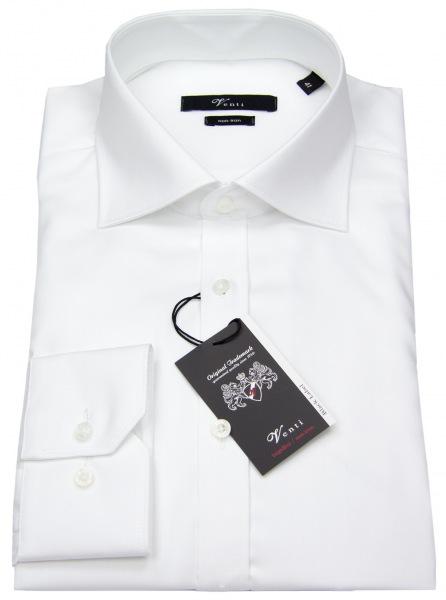 Venti Hemd - Slim Fit - Twill - weiß - 001800 000