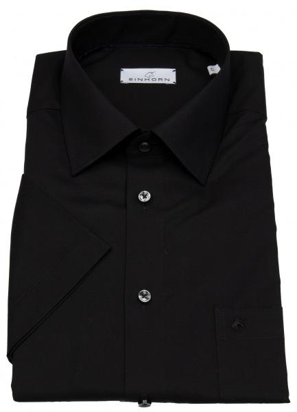 Einhorn Kurzarmhemd - Regular Fit - Derby - schwarz - 824 11305 9
