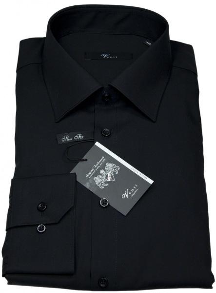 Venti Hemd - Slim Fit - schwarz - extra langer Arm 72cm - 001482-80