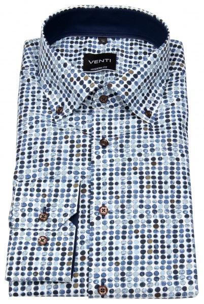 Venti Hemd - Modern Fit - Button Down - Print - mehrfarbig - 193276000 100