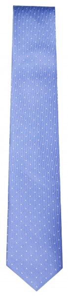 OLYMP Seidenkrawatte - Slim - hellblau mit weissen Punkten - 1799 00 11