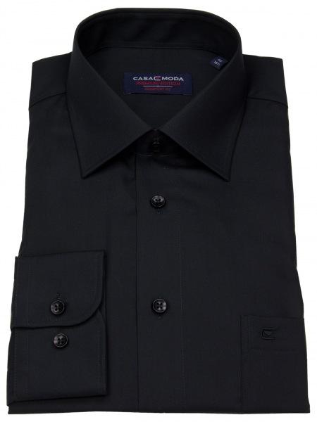 Casa Moda Hemd - Comfort Fit - schwarz - 006050 800