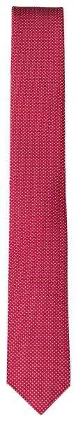 OLYMP Seidenkrawatte - Super Slim - rot / weiß - 4698 00 35