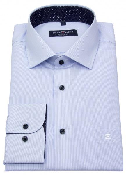 Casa Moda Hemd - Comfort Fit - Streifen - hellblau / weiß - 393159500 100