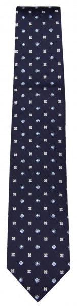 OLYMP Seidenkrawatte - blau / weiß - 1715 13 11