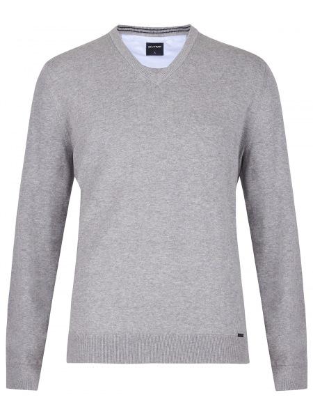 OLYMP Pullover - V-Ausschnitt - grau - 0160 10 63