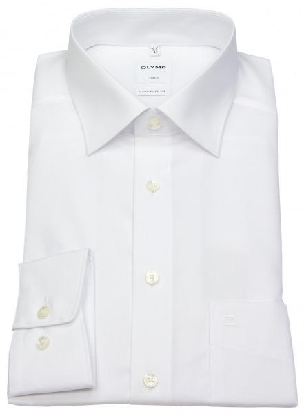 OLYMP Hemd - Luxor Comfort Fit - weiß - extra kurzer Arm 58cm - 0254 58 00