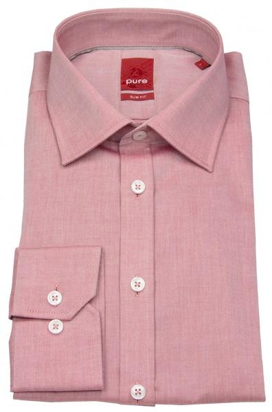 Pure Hemd - Slim Fit - rot - 3330 720 305