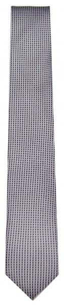 OLYMP Seidenkrawatte - Slim - Struktur - schwarz / weiß - 1798 00 67