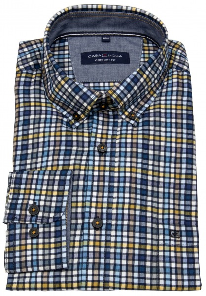 Casa Moda Hemd - Comfort Fit - Button Down Kragen - mehrfarbig kariert - 493300800 150