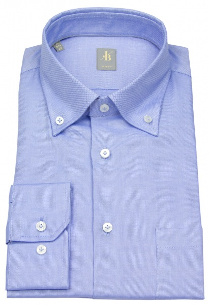 Jacques Britt Hemd - Slim Fit - Button Down - Oxford - hellblau - ohne OVP - 20.960305 11