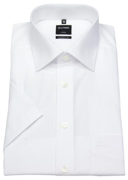 OLYMP Kurzarmhemd - Luxor Modern Fit - weiß - 0300 12 00