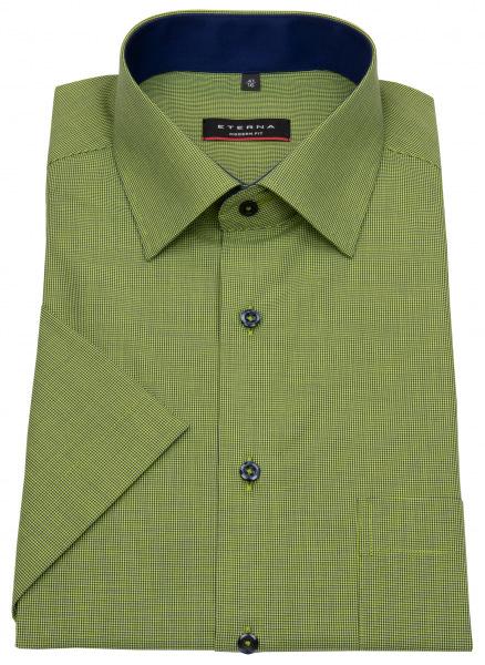 Eterna Kurzarmhemd - Modern Fit - grün / dunkelblau - 3931 C15P 44