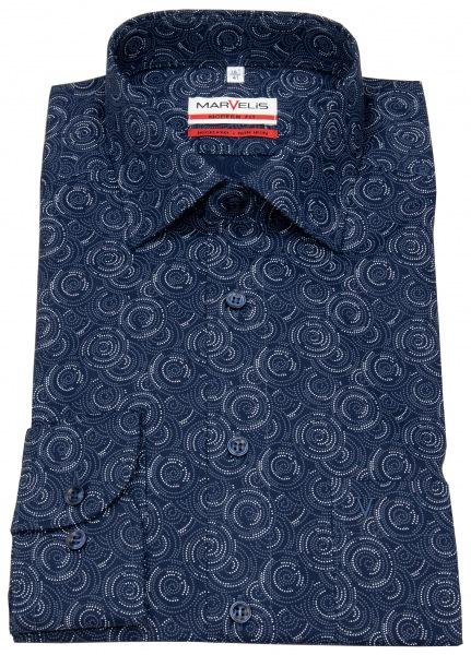 Marvelis Hemd - Modern Fit - Print - blau / weiß - 7227 44 18