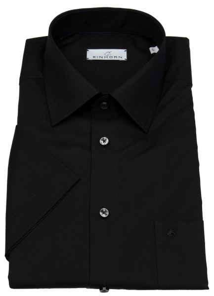 Einhorn Kurzarmhemd - Modern Fit - Jamie - schwarz - 855.11305 9