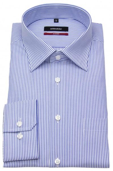 Seidensticker Hemd - Modern Fit - Kentkragen - Streifen - blau / weiß - 002570 18