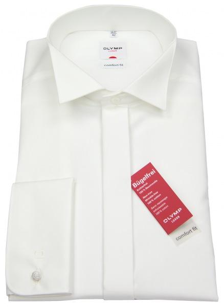 OLYMP Galahemd - Kläppchenkragen - Umschlagmanschette - creme - ohne OVP - 0295 65 21