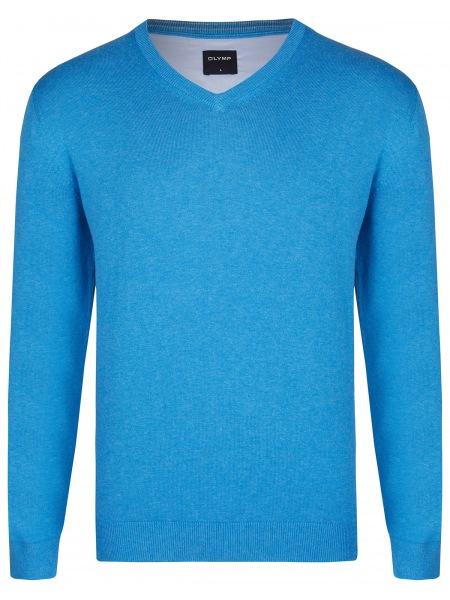 OLYMP Pullover - V-Ausschnitt - blau - 0160 10 74