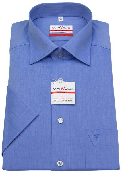Marvelis Kurzarmhemd - Modern Fit - Chambray - blau - 4704 12 13