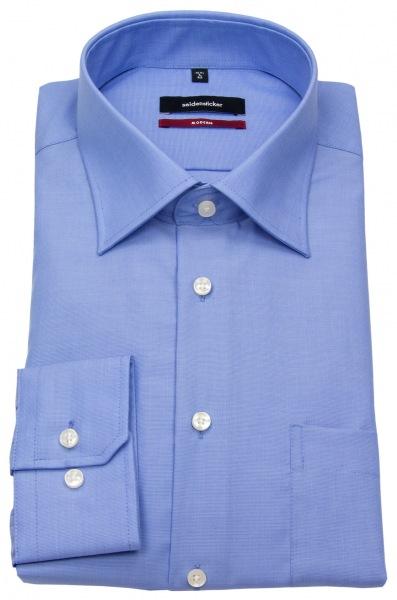 Seidensticker Hemd - Modern Fit - Fil-a-Fil - blau - 003000 14