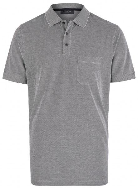 MAERZ Muenchen Poloshirt - Regular Fit - Baumwolle - dunkelblau meliert - 663500 399