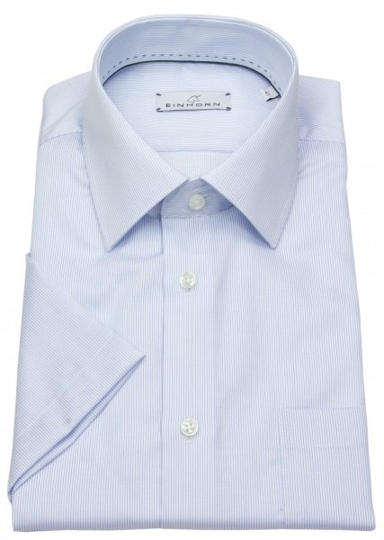 Einhorn Kurzarmhemd - Modern Fit - Streifen - hellblau / weiß - 391746.1520 3